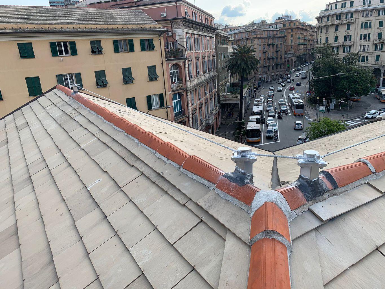 installazione linee vita Genova Sampierdarena 01